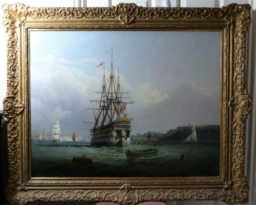 portrait of hms royal adelaide 1837 attributed to joseph walter