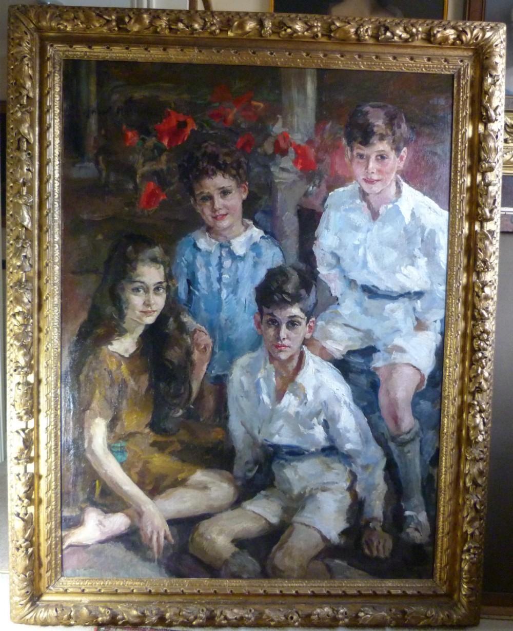 portrait of the orbach and des salles children by joseph oppenheimer rp