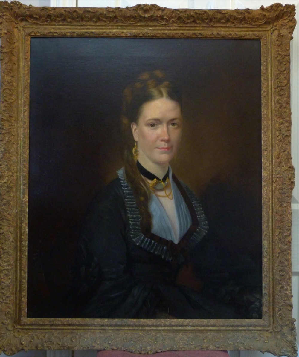 portrait of a lady of the haworth family c1850 english school