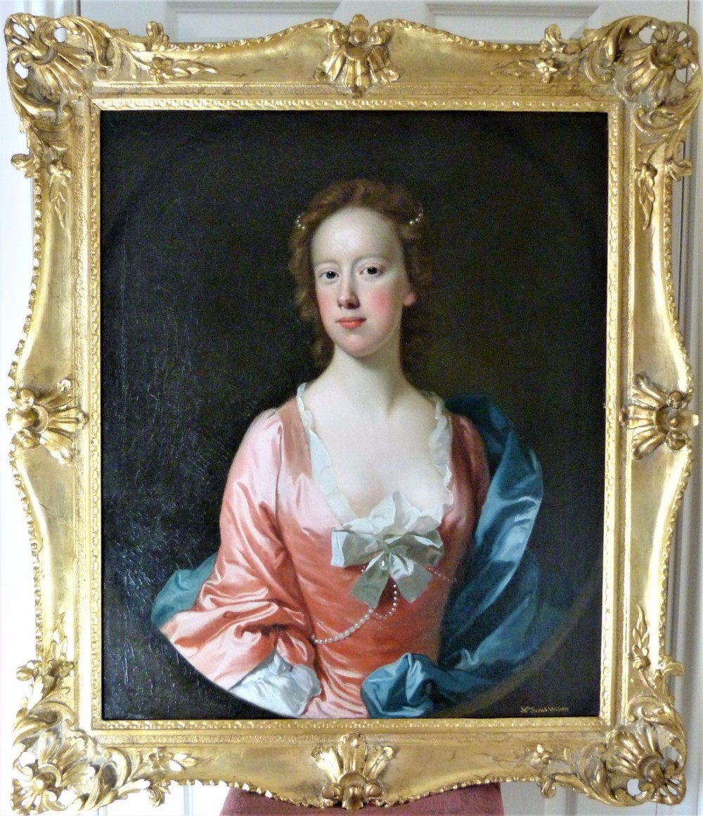 portrait said to be of sarah wilson c1750 attributed to allan ramsay