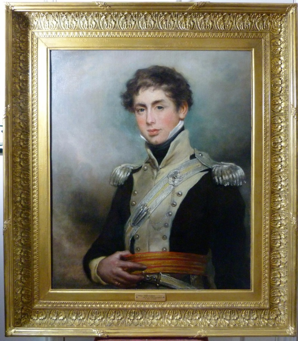 portrait of capt the hon henry dundas shore c1820 by arthur william devis