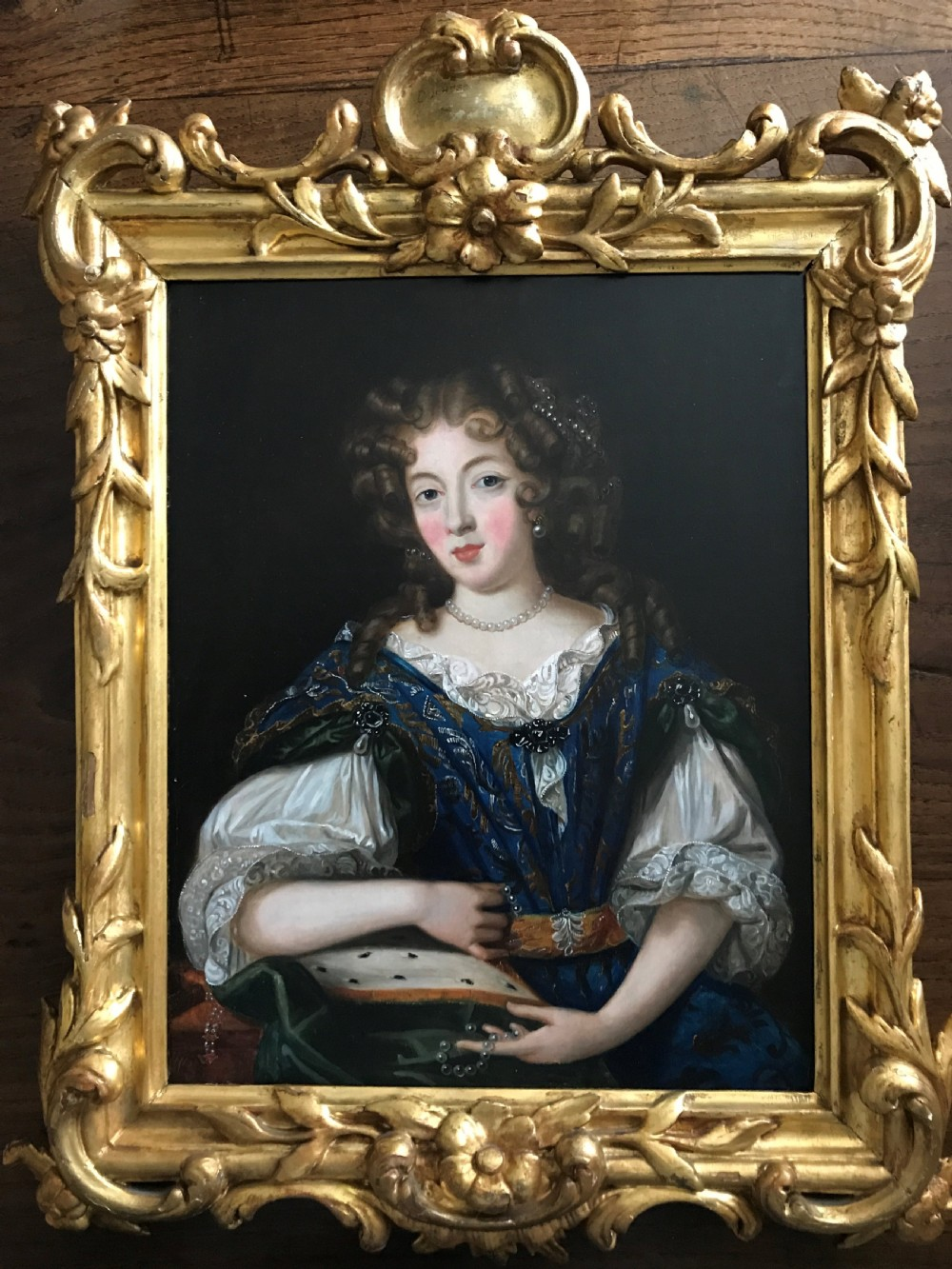portrait of louise de la valliere follower of pierre mignard