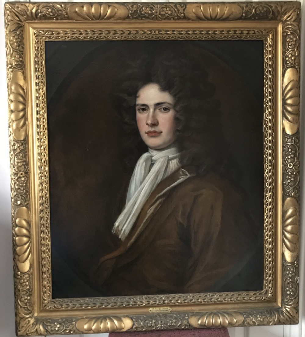 portrait of a gentleman traditionally called sir william temple c1705 circle of sir godfrey kneller