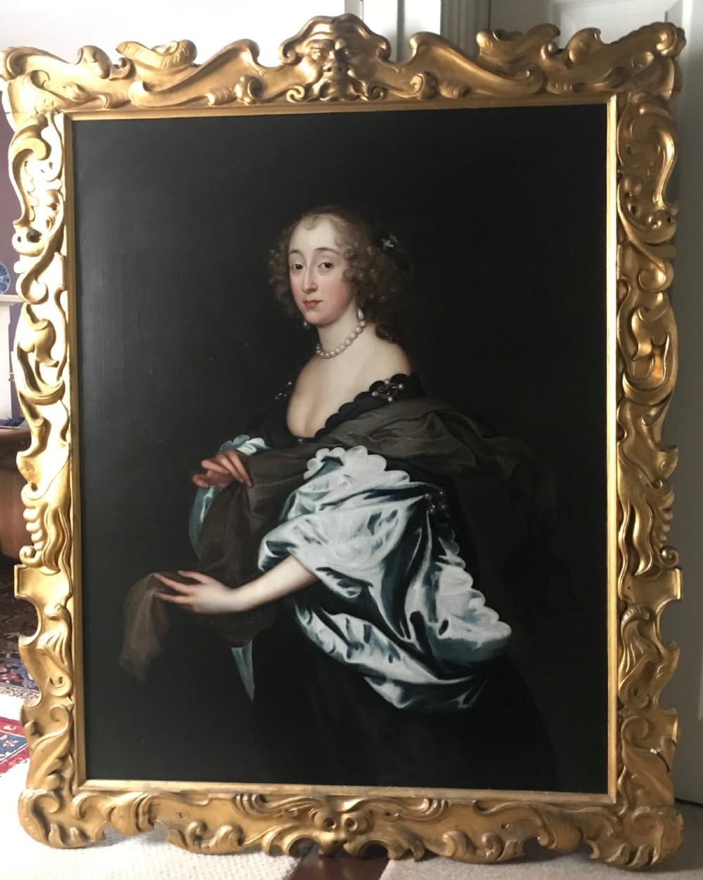 portrait of lady penelope herbert c1640 studio or circle of van dyck