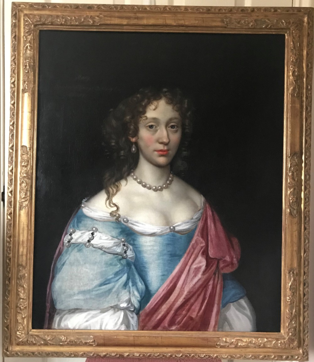 portrait of mary dodding 1677 by john michael wright