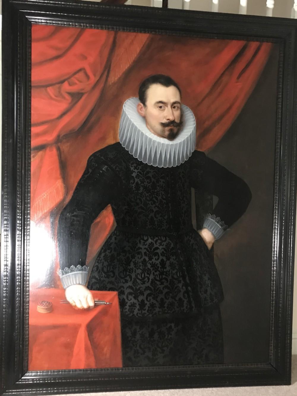 portrait of a diamond merchant c1620 studio or circle of cornelis van der voort