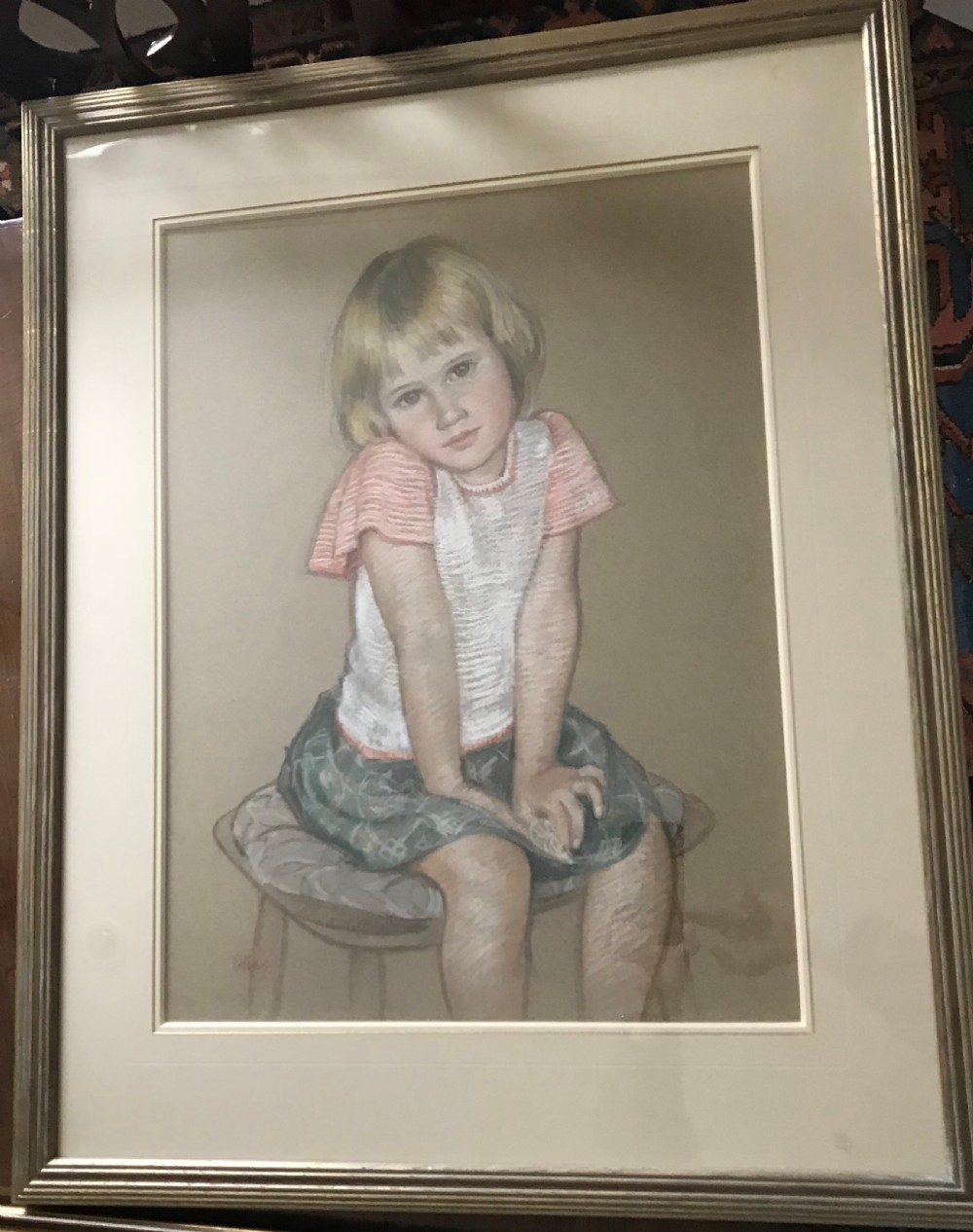 emma young the reluctant sitter c1950 by dorothy colles
