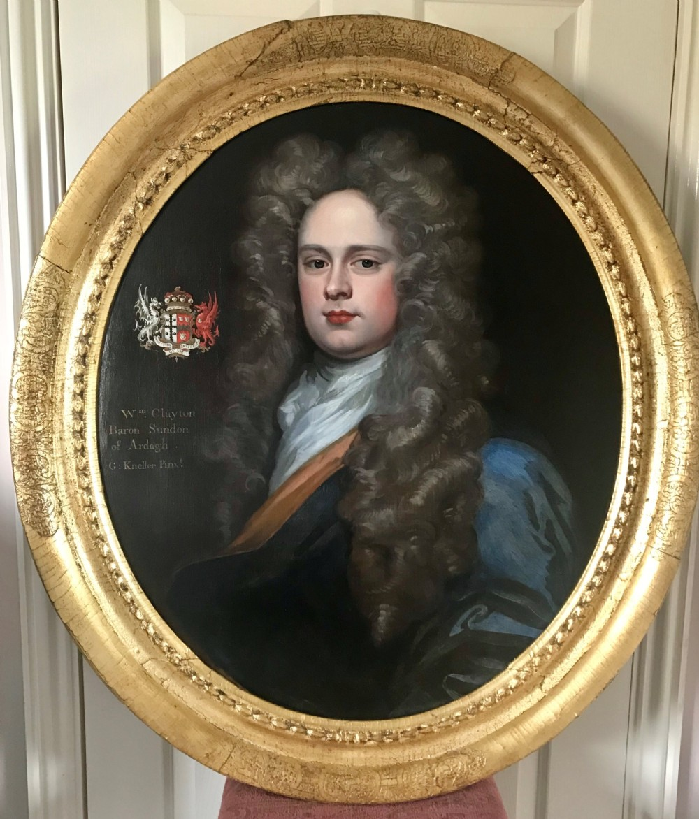 portrait of william clayton 1st baron sundon of ardagh studio of kneller