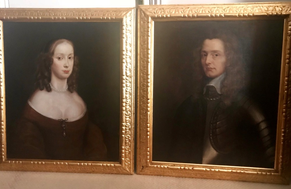 pair of portraits of sir neville and lady catlin c1658 attributed to john hayls