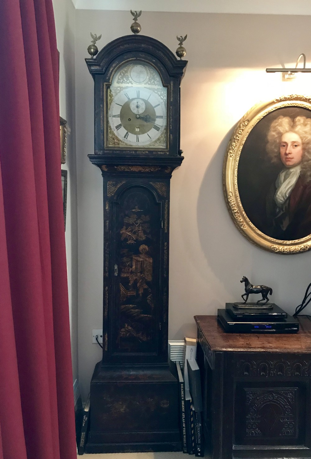 eight day longcase clock c1770 by henry baker of malling