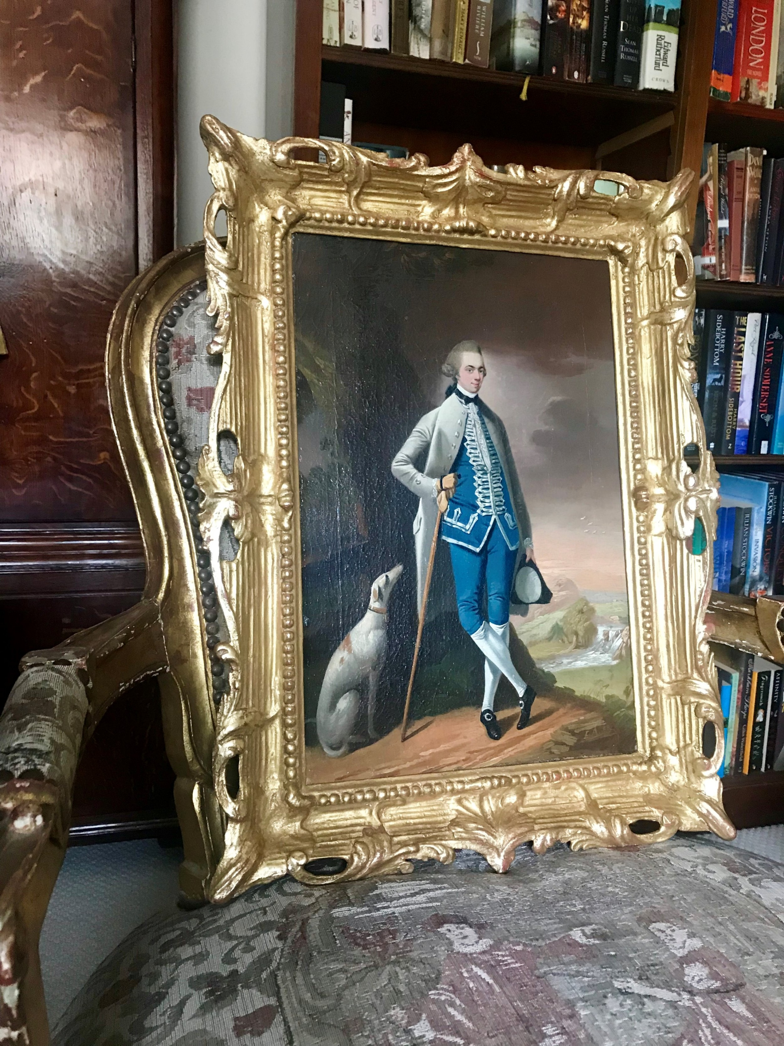 portrait of a gentleman and his greyhound 1758 by edward alcock