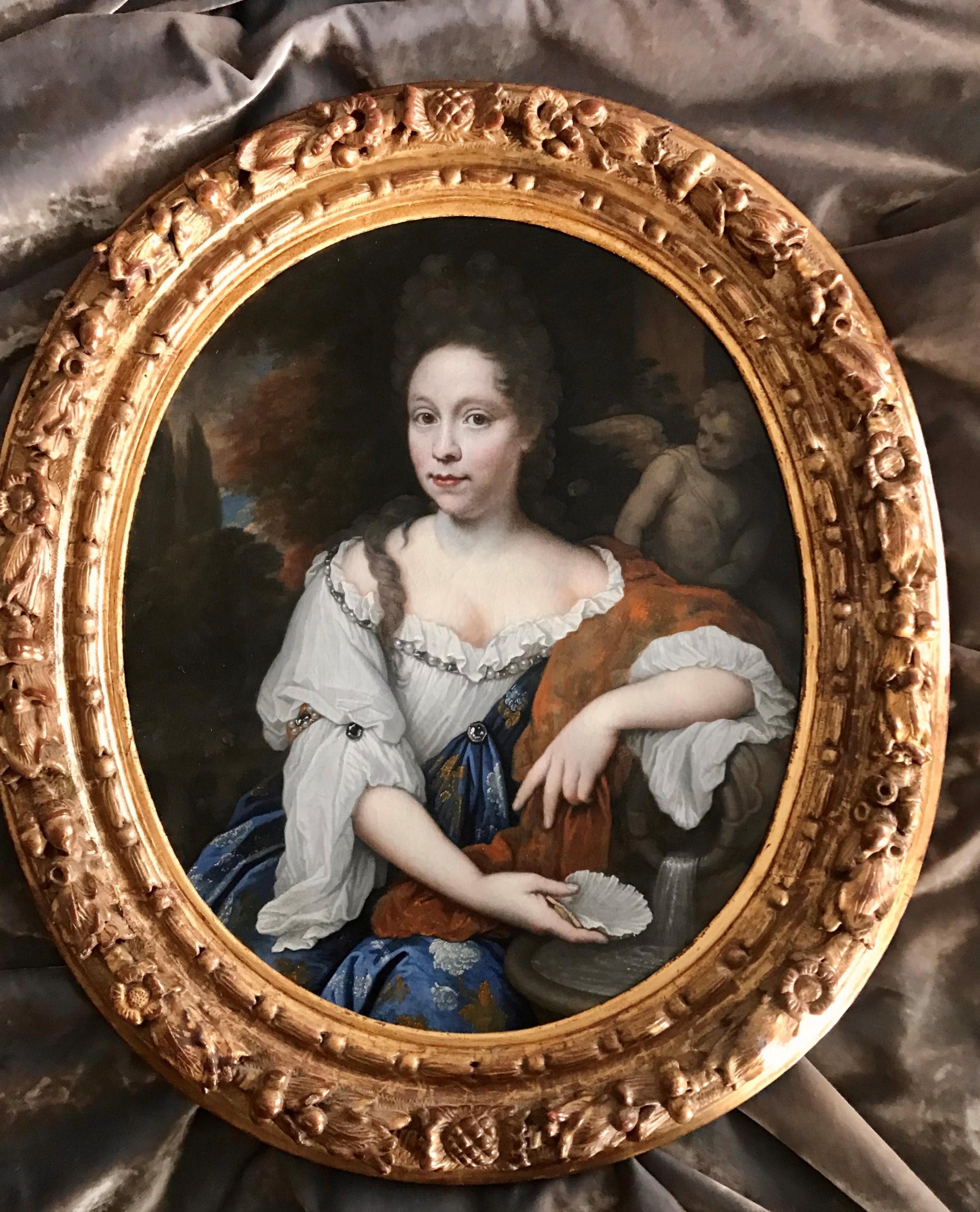 portrait of catharina margaretha beck c1695 attributed to johannes van haensbergen