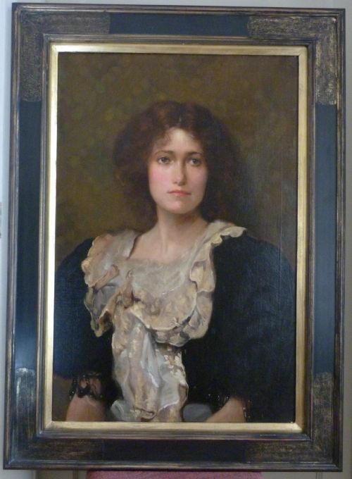 soldportrait of a young lady c1910 by ambrose mcevoy