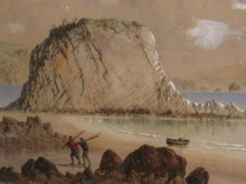coastal watercolour by george lothian hall - photo angle #3