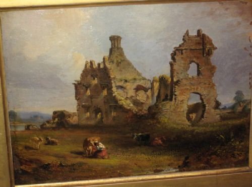 victorian irish castle oil painting - photo angle #2