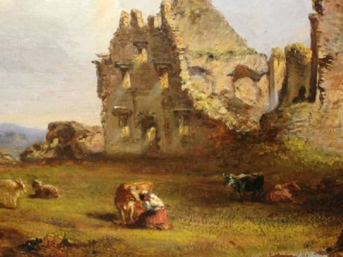 victorian irish castle oil painting - photo angle #3