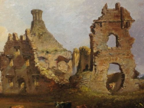 victorian irish castle oil painting - photo angle #4