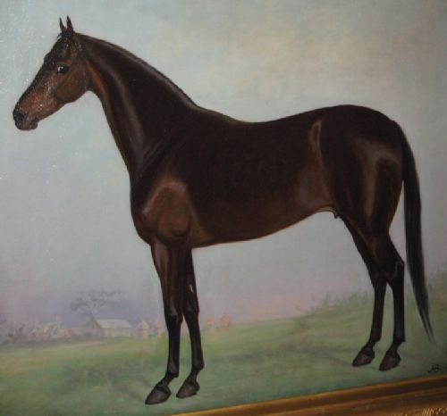 large edwardian horse oil painting - photo angle #2