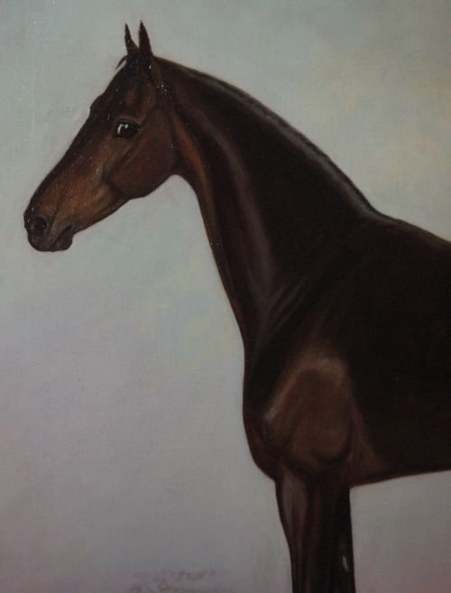 large edwardian horse oil painting - photo angle #3