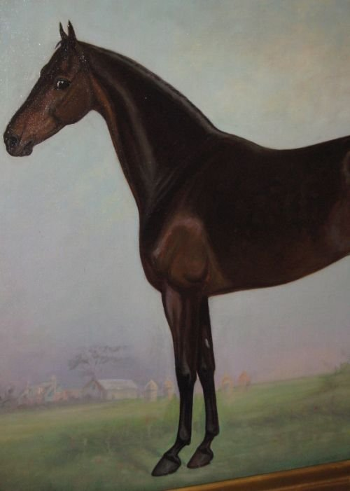 large edwardian horse oil painting - photo angle #4