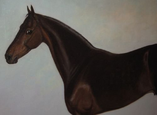 large edwardian horse oil painting - photo angle #5