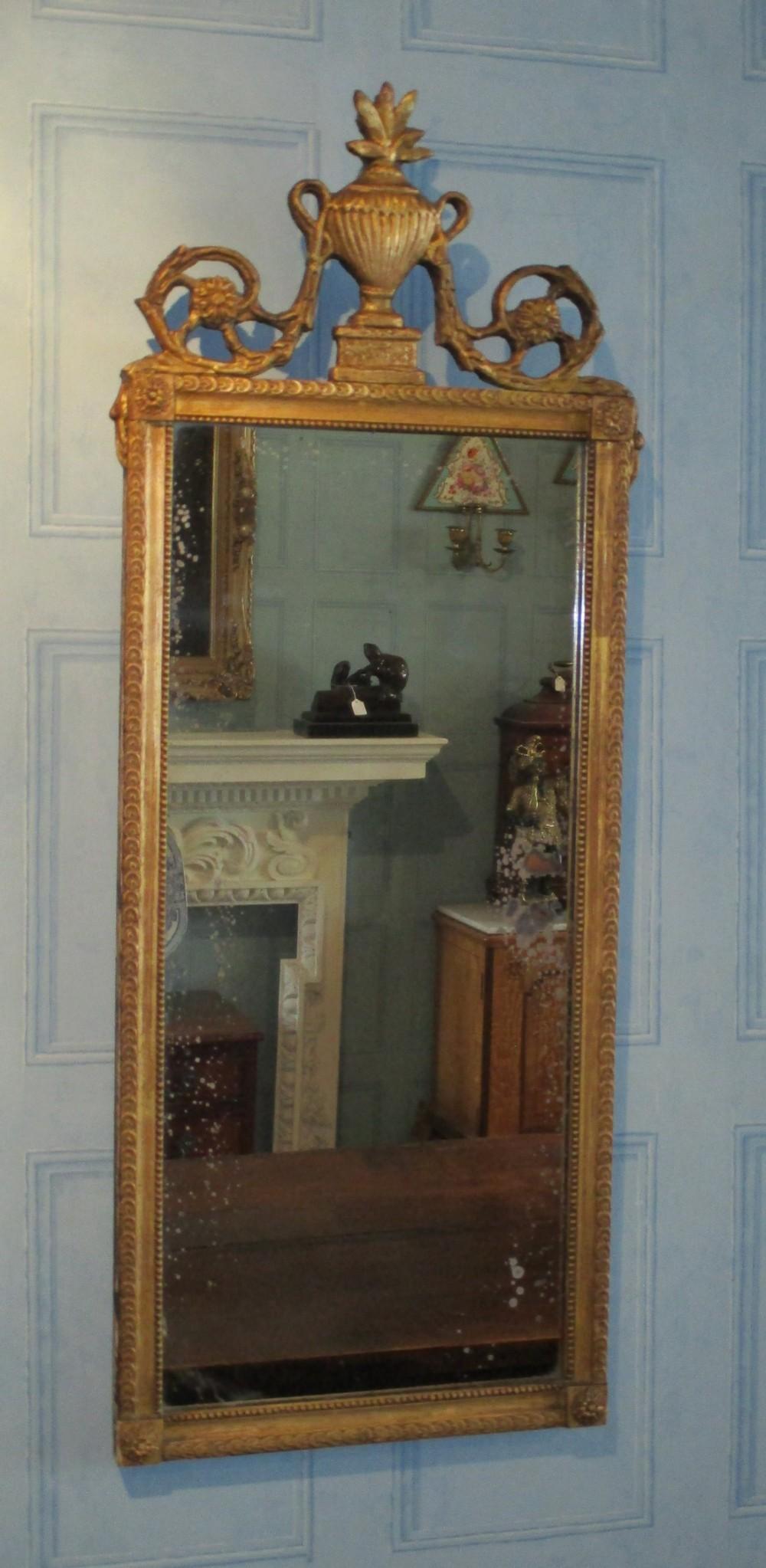 adam design gilt pier mirror