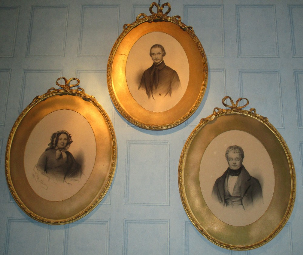 superb set of three victorian portraits