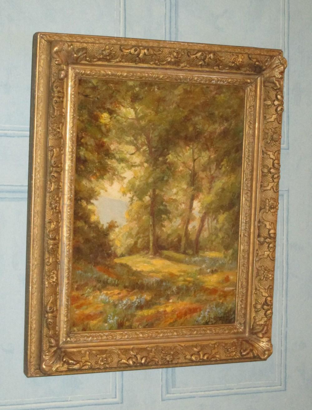 woodland scene oil painting by hbarnett