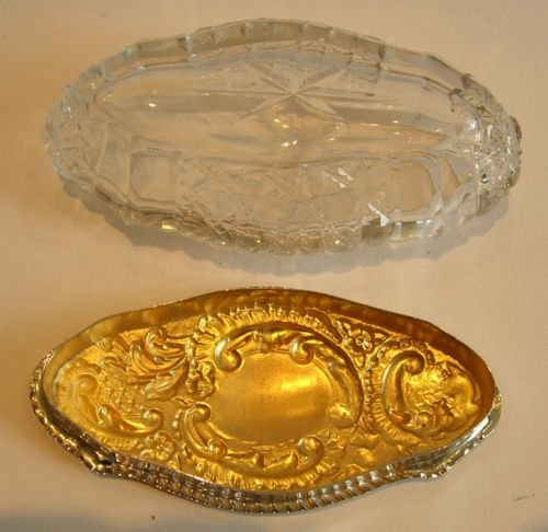 cut crystal and sterling silver box edwardian - photo angle #4