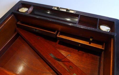William Iv Rosewood Writing Slope Lap Desk C 1830