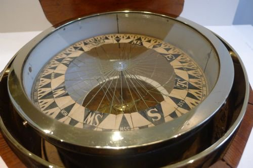 important large antique maritime dry card compass sir william thomson lord kelvin - photo angle #3