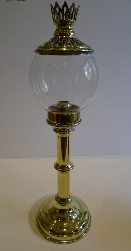 Antique English Brass Student S Lamp By Sherwood S Of