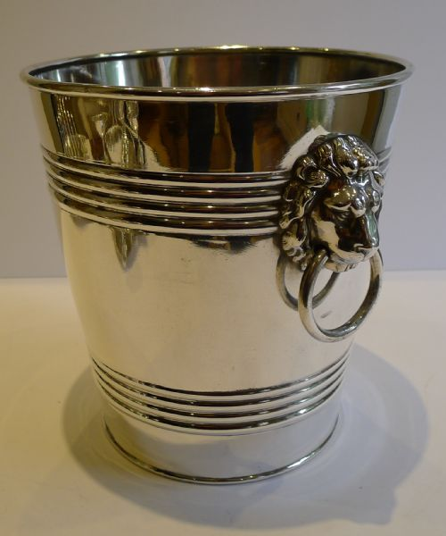 Antique Silver Plated Wine Or Champagne Bucket Or Cooler
