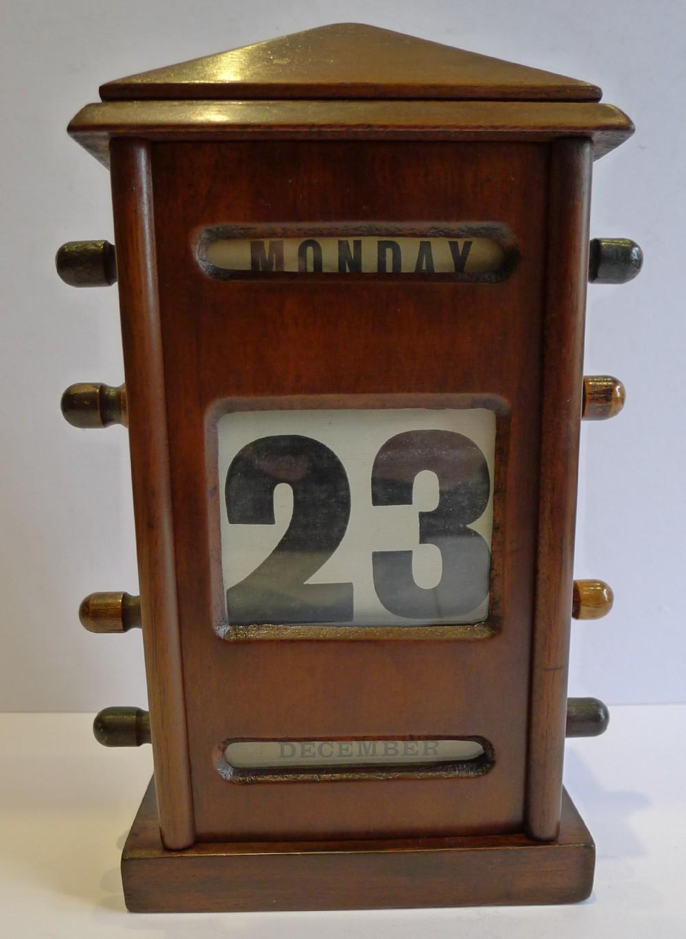 antique english mahogany perpetual desk calendar c1900 - Antique English Mahogany Perpetual Desk Calendar C.1900 241927