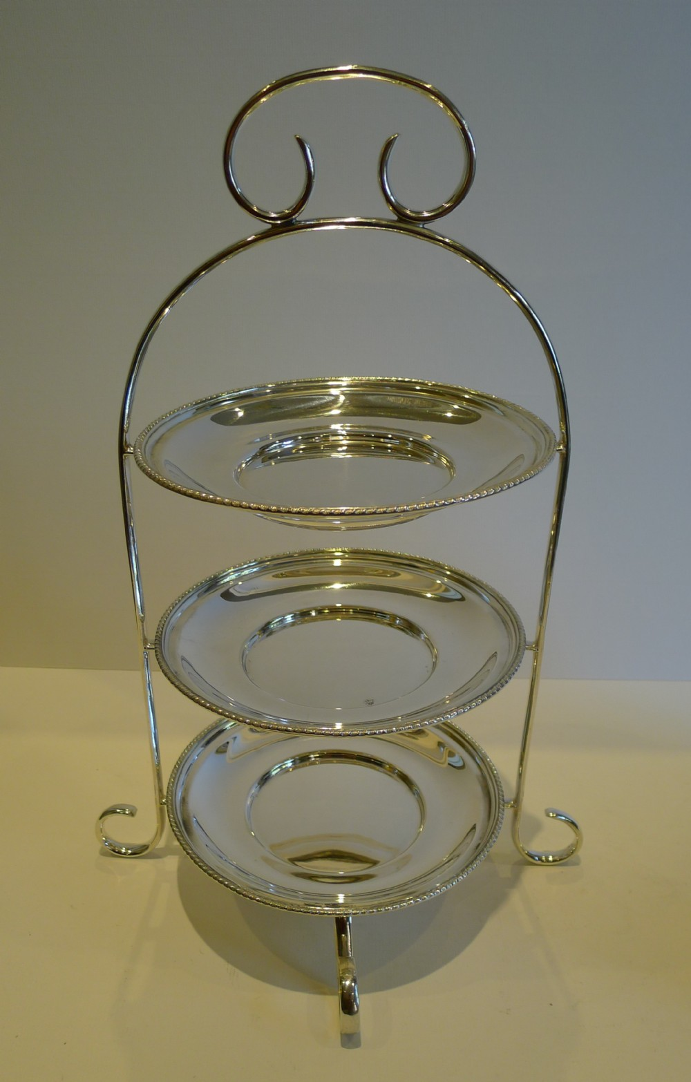 antique english silver plated 3tier cake stand by maxfield sons c1890 & Antique English Silver Plated 3-tier Cake Stand By Maxfield \u0026 Sons C ...