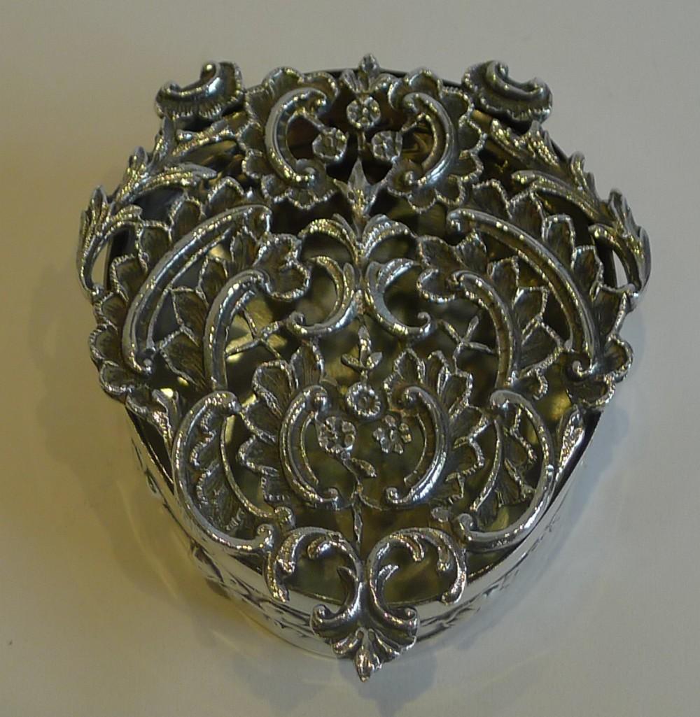 antique english sterling silver pot pourri box by william comyns