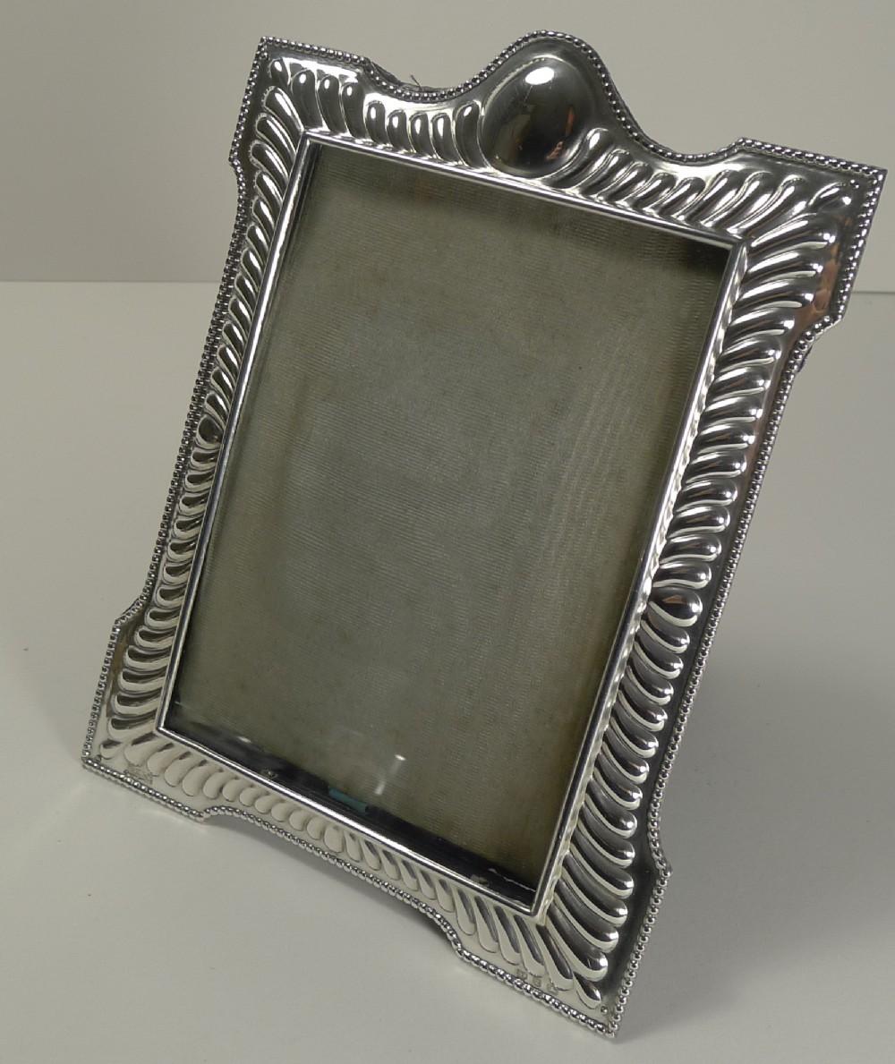 elegant victorian english sterling silver photograph frame 1899