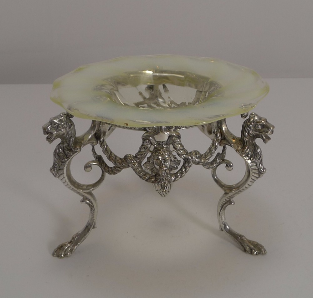 top quality james dixon silver plate and opaline glass centrepiece c1880