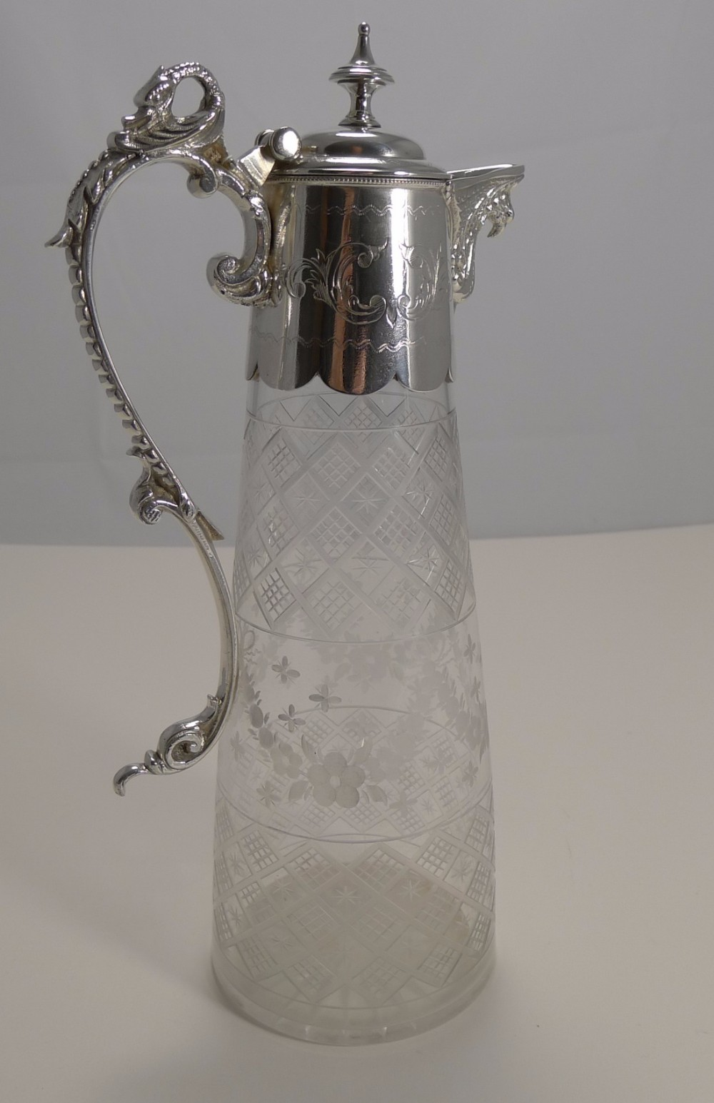 superb antique english claret jug c1880
