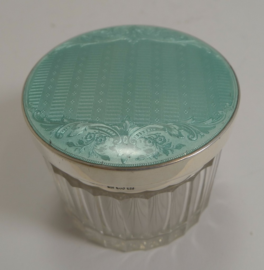 prettiest vintage english sterling silver and guilloche enamel lidded box