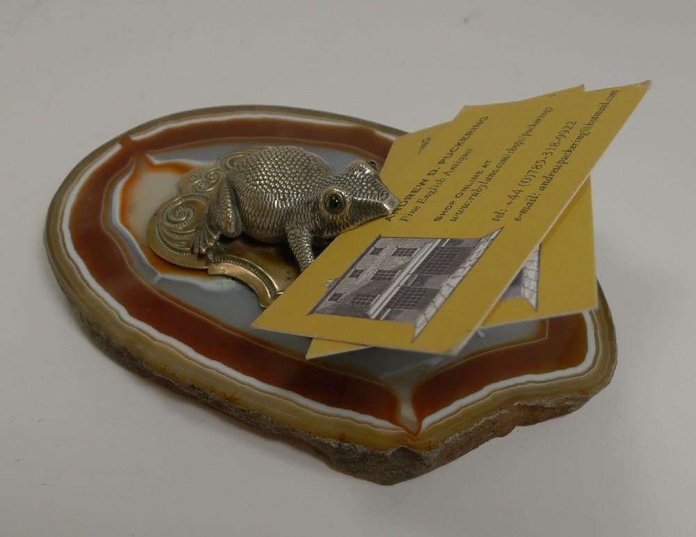 Antique English Novelty Visiting Card Holder / Receiver C.1890 ...