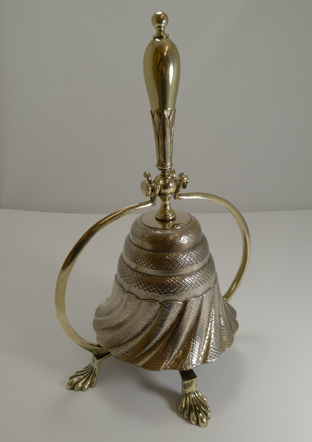 unusual antique english dinner bell c1860