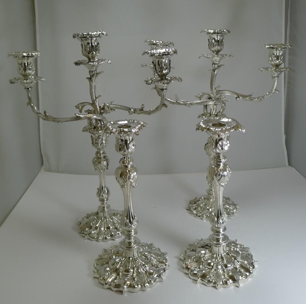 suite elkington candesticks candelabra in silver plate 1843 1879