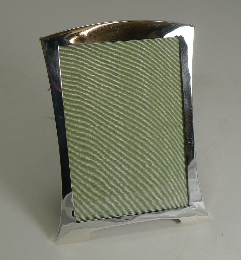 elegant antique english sterling silver picture frame art deco 1919