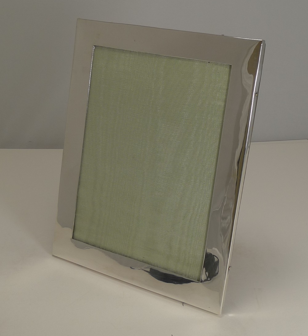 large antique english sterling silver picture frame by mappin brothers 1905