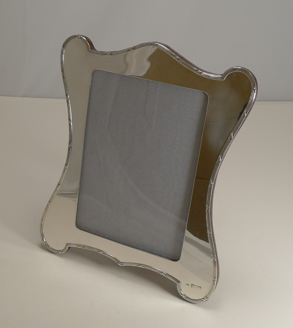 large antique english sterling silver photograph picture frame by william comyns