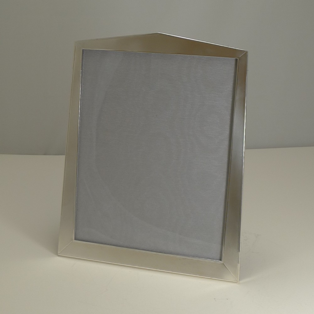 large vintage art deco english sterling silver photograph picture frame