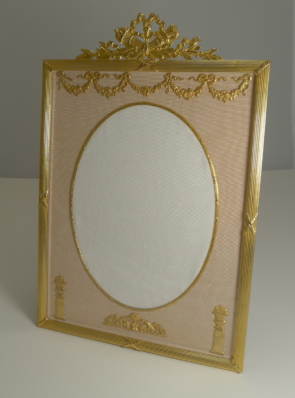 large french gilded bronze photograph frame c1890