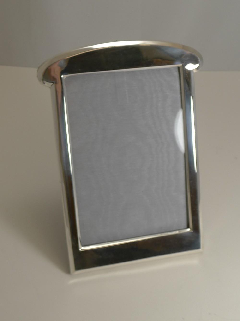antique english art nouveau sterling silver photograph picture frame 1919