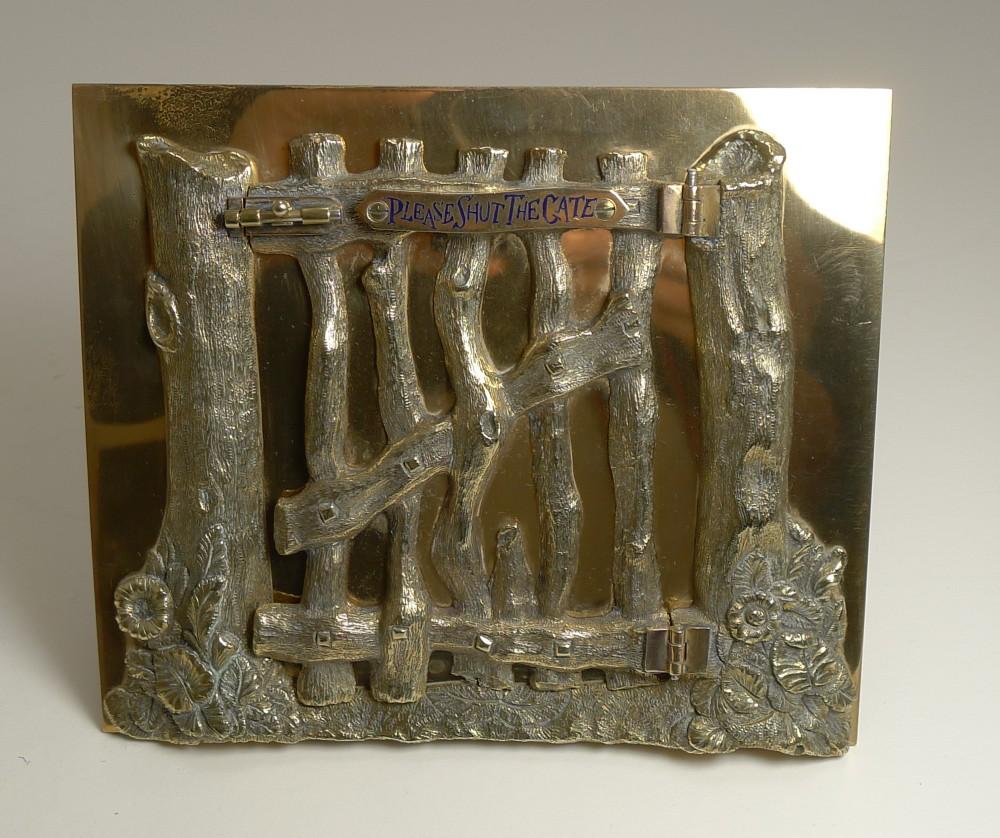 quality victorian bronze picture frame by g betjemann reg 1867
